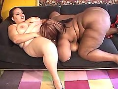 Chubby ebony licks her girlfriend