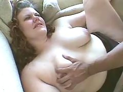Guy drills plump chick