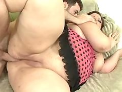 Fat mature crazy fucks and gets cum