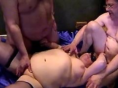 Chubby mature woman fucked by men