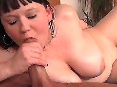 Chubby brunette w big boobs screwed
