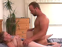Lustful busty mature fucked on bed