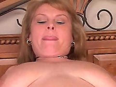 Horny girl with big boobs ride dick