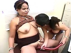 Big titted plump babe going naughty