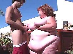 Adventure with hot overweight slut