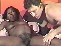 Pregnant ebony girl spoiled by man