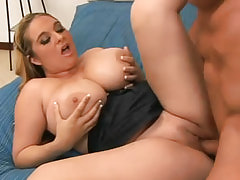 Plump babe likes to be on the top