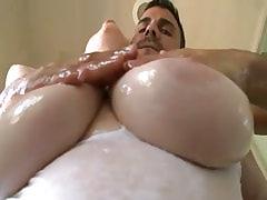 Dude takes advantage of big boobs