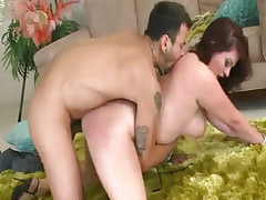 Sex-addicted busty babe going wild