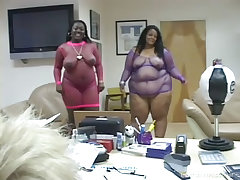 Ebony newcomer sucks white dick like her life depends on it