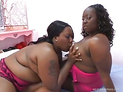 Big black beauties getting tongue tied