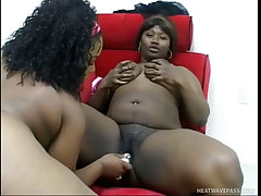 Erotic lesbian fatties don t need men